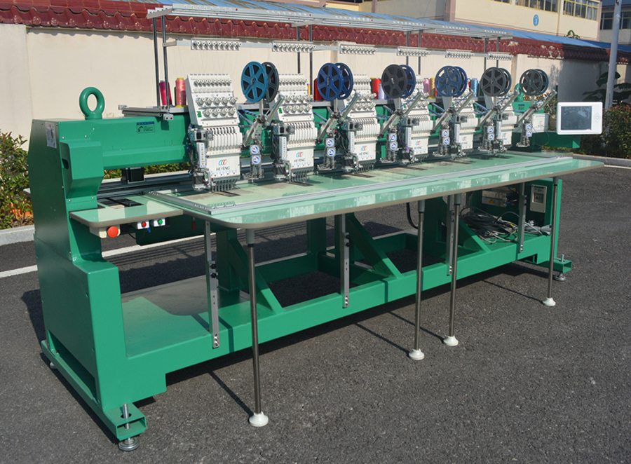 6 heads embroidery machine